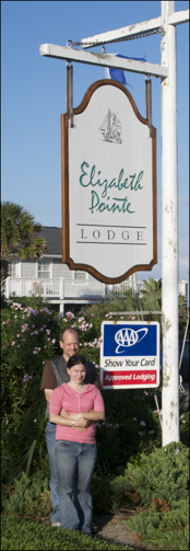 Elizabeth Pointe Lodge Sign