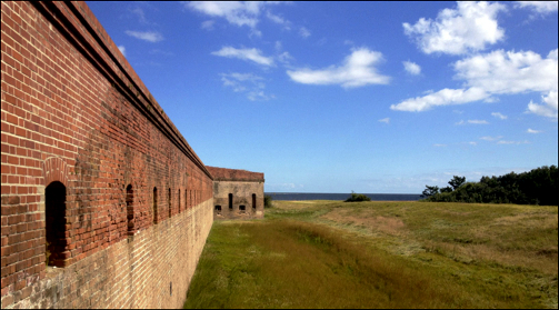 Fort Wall and Atlantic Ocean