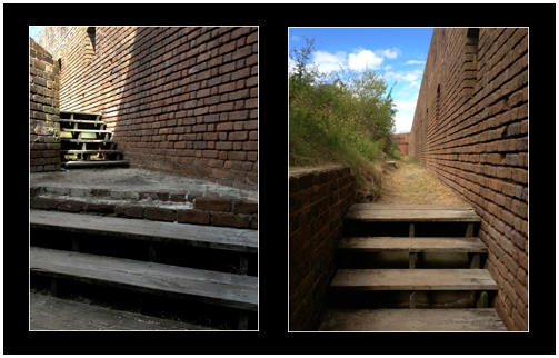 Stairs and Along the Wall