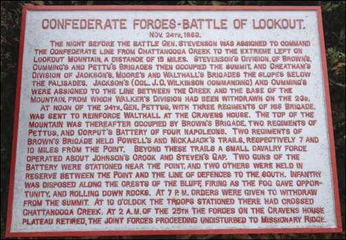 Battle of Lookout Mountain: Confederate History